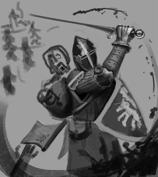 striking Knight_Half_Wayd