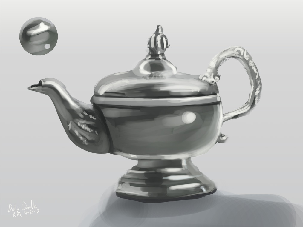 Daily Doodle: Metal Teapot | Making Games & Other Nonsense
